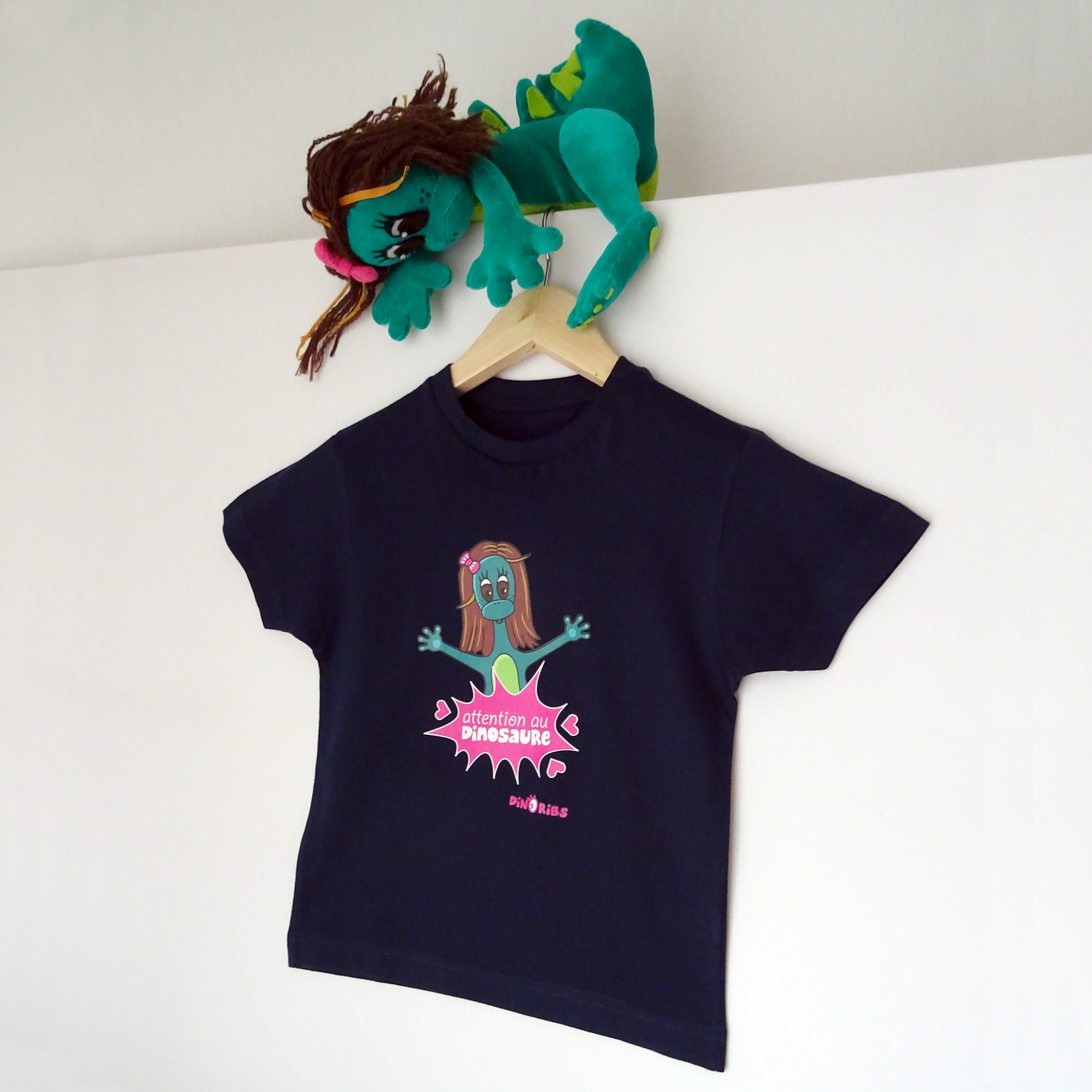 Tee-shirt Dinoribs. Attention au dinosaure