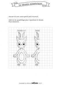 dinoribs dessin symétrique avec le petit écureuil