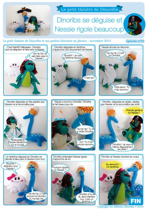 Dinoribs se déguise et Nessie rigole beaucoup