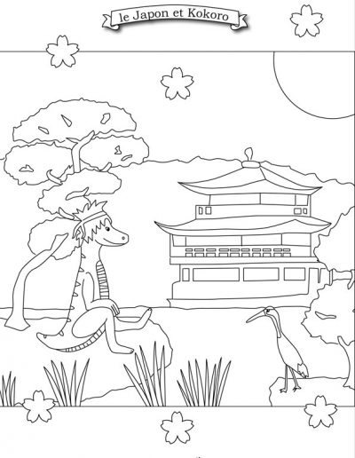 coloriage dinosaure Kokoro
