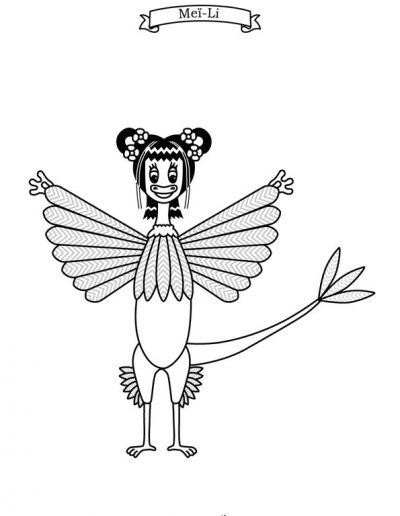 coloriage microraptor meili 02